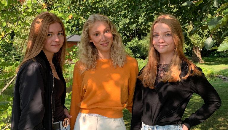 Tre tjejer som driver UF-företag